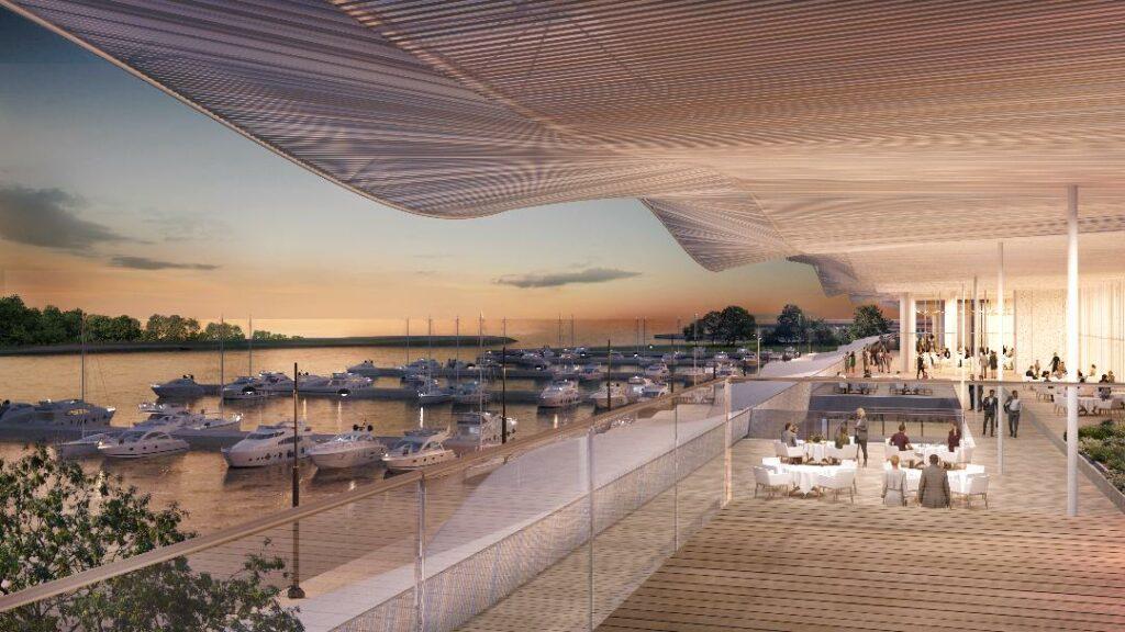 Live η παρουσίαση της Marina Galleria από τη Lamda Development